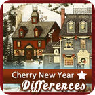 Cherry New Year 5 Differences spel