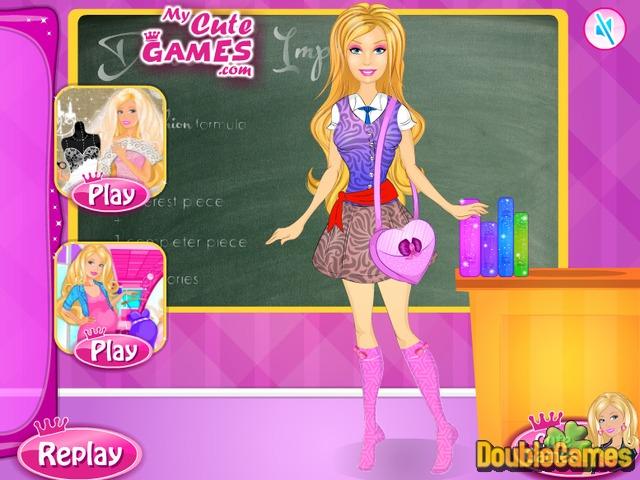 Gratis downloaden Barbie School Uniform Design screenshot 3