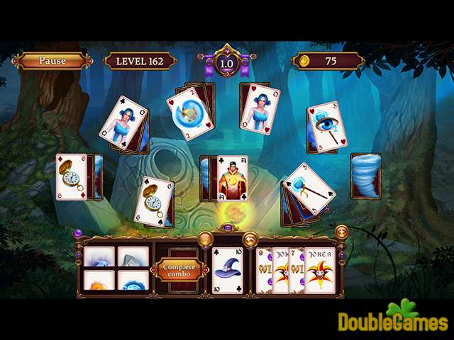 Gratis downloaden Solitaire: Elemental Wizards screenshot 1